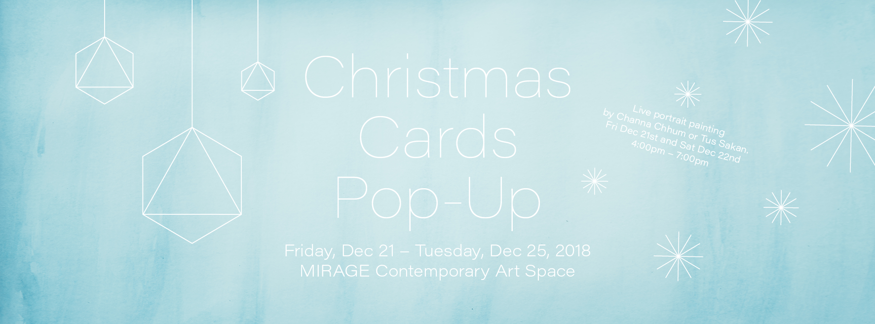 Christmas Cards Pop Up at MIRAGE Contemporary Art Space in Siem Reap, Cambodia