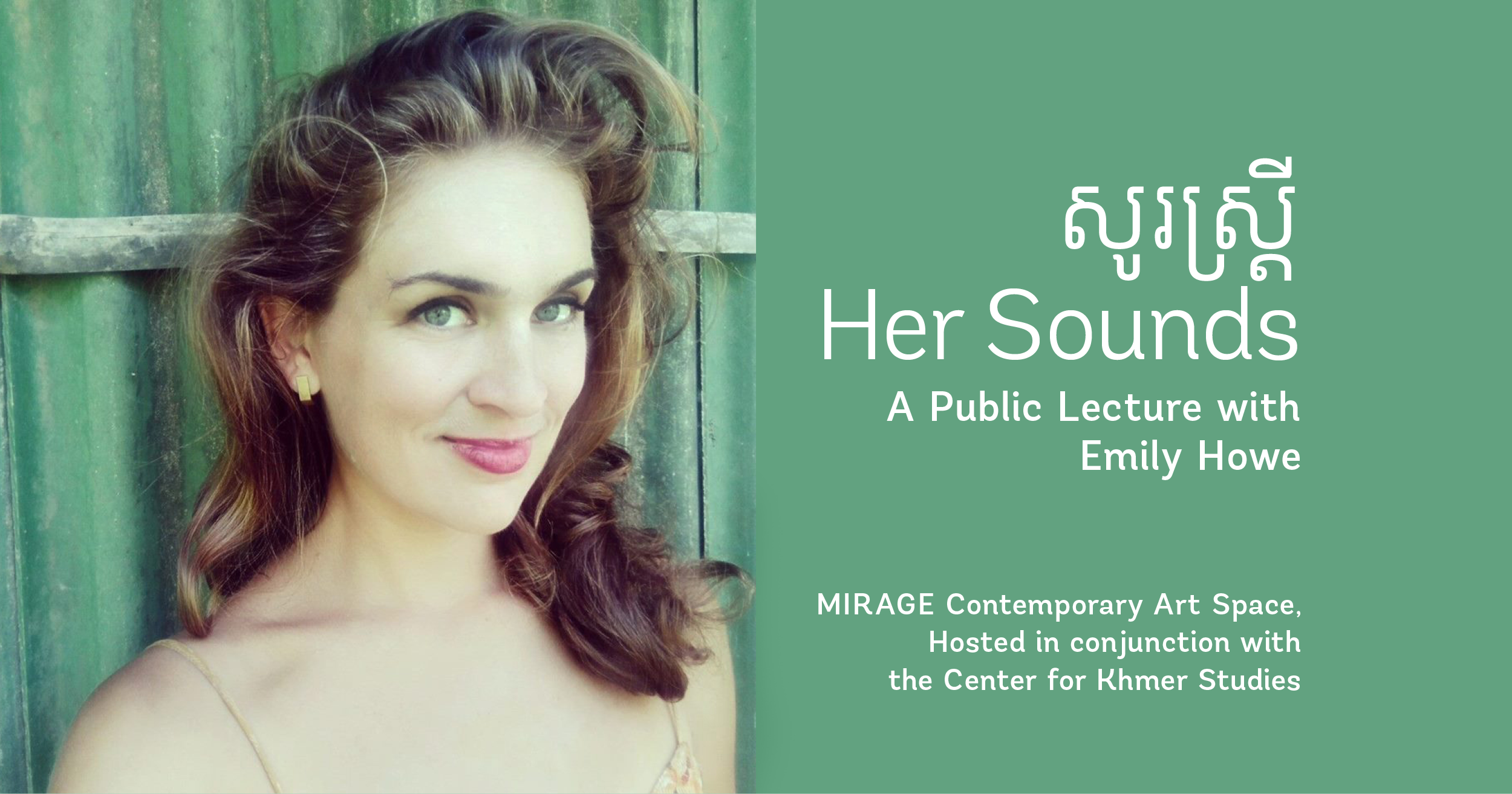 Public Lecture with Emily Howe at MIRAGE Contemporary Art Space in Siem Reap, Cambodia