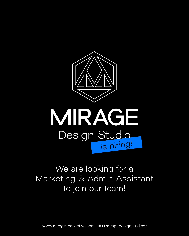 MIRAGE Job Posting June 2016: Marketing + Admin Assistant